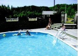 Enda ett bilde av basseng på rideleiren